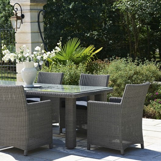 Salon de jardin haussman paris garden design 1 table 6 for Salon de jardin leroy merlin