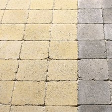 Pavé Tarnis béton, jaune, ton pierre , L.12.5 cm x l.12.5 cm x Ep.40 mm