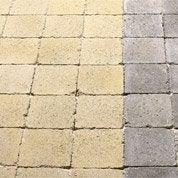 Pavé Tarnis Béton jaune/ton pierre 12.50x12.50cm, ép.40mm