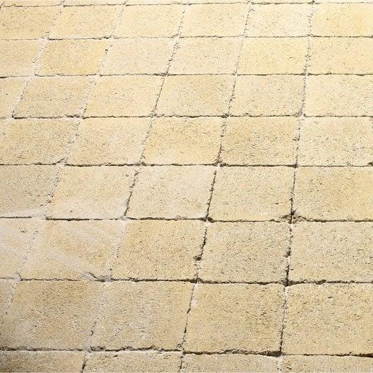 Pav tarnis b ton jaune 12x12cm for Pave beton exterieur