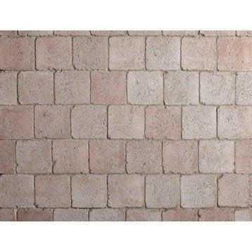 Pav caris en b ton rouge orang l 12 x l 12 cm p 40 mm for Pave beton exterieur
