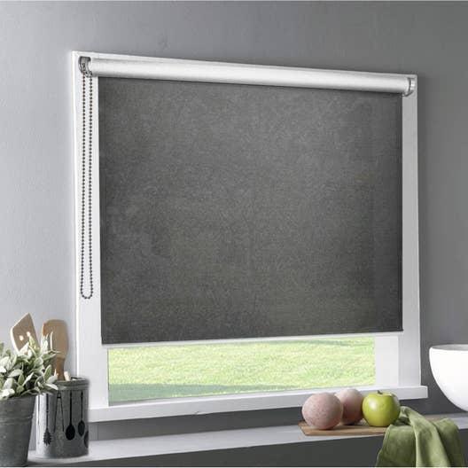 store enrouleur tamisant tlu gris fonc 120x220 cm leroy merlin. Black Bedroom Furniture Sets. Home Design Ideas