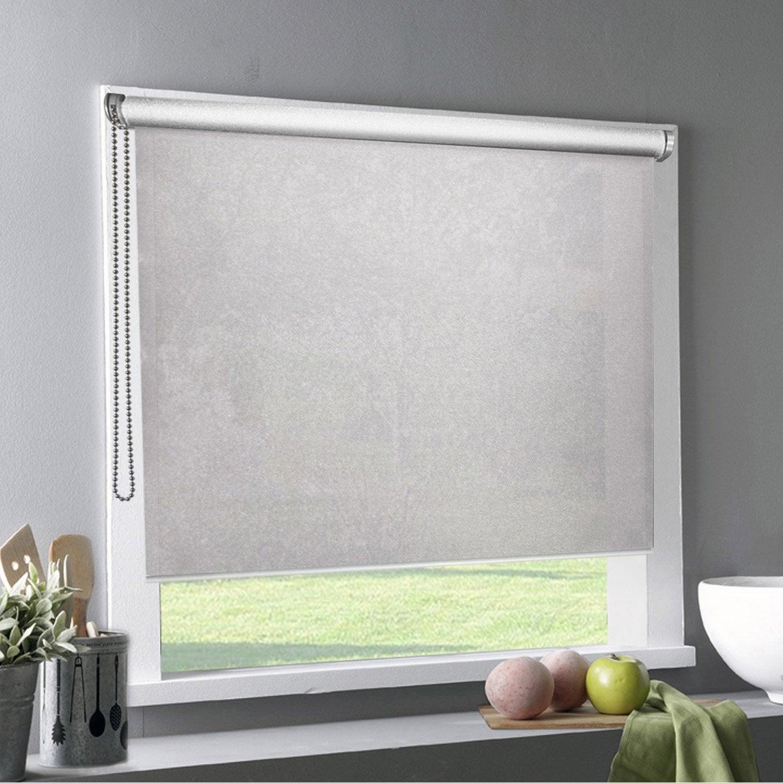 store enrouleur tamisant tlu taupe 120x220 cm leroy merlin. Black Bedroom Furniture Sets. Home Design Ideas