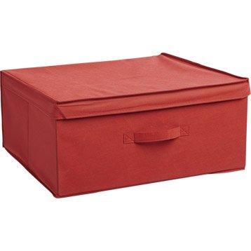 interesting bo te de rangement intiss spaceo rouge rouge n leroy merlin boite rangement with. Black Bedroom Furniture Sets. Home Design Ideas