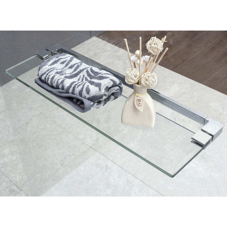 tablette en verre 60 cm cube leroy merlin. Black Bedroom Furniture Sets. Home Design Ideas
