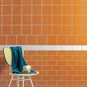 Carrelage mural Astuce en faïence, orange tangine n°3, 20 x 20 cm