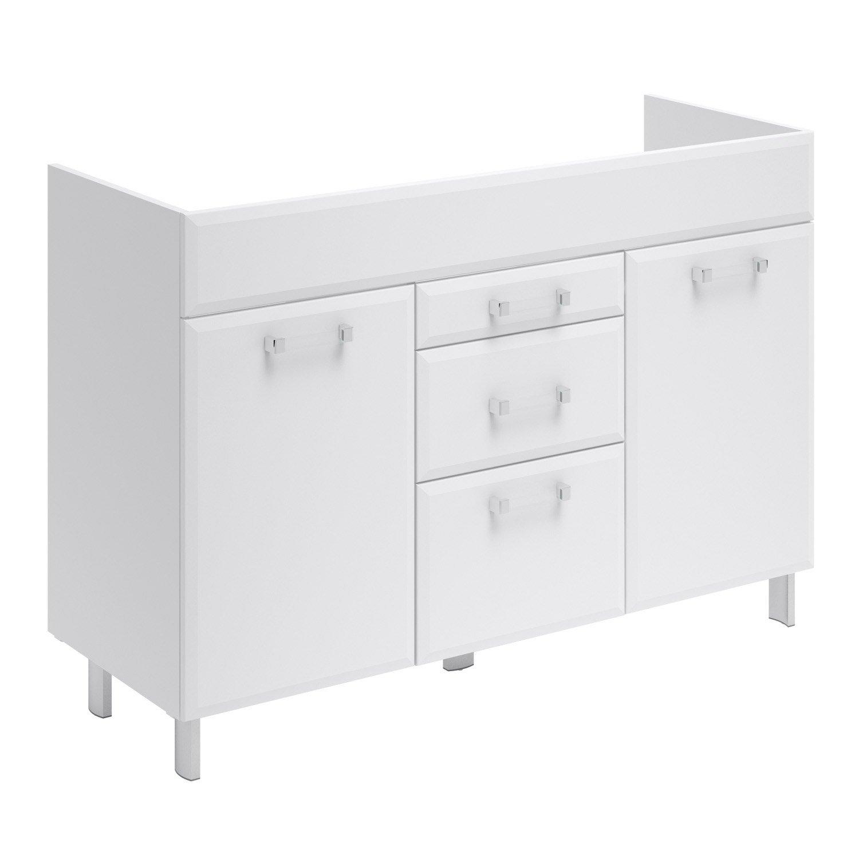 meuble sous vasque l120 x h84 x p452 cm opale