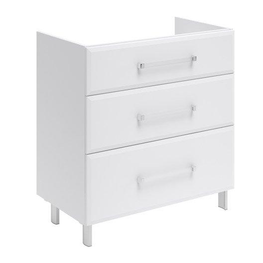 meuble sous vasque x x cm blanc opale leroy merlin. Black Bedroom Furniture Sets. Home Design Ideas