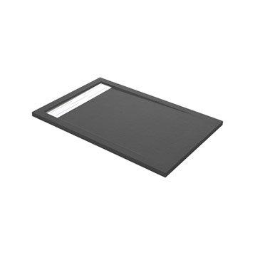 Receveur de douche rectangulaire L.120 x l.80 cm, résine gris Urban