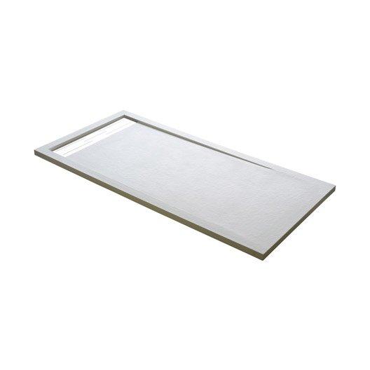 receveur de douche extraplat rectangulaire l.140 x l.90 cm, résine