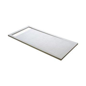 Receveur de douche rectangulaire L.140 x l.90 cm, résine blanc Urban