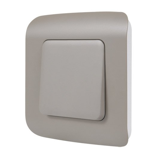 interrupteur va et vient cosy lexman marron leroy merlin. Black Bedroom Furniture Sets. Home Design Ideas