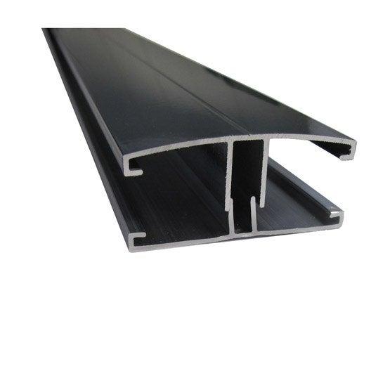 profil jonction pour plaque ep 16 32 mm gris l 4 m leroy merlin. Black Bedroom Furniture Sets. Home Design Ideas