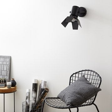 Applique Studio, 1 x 75 W, métal noir, INSPIRE