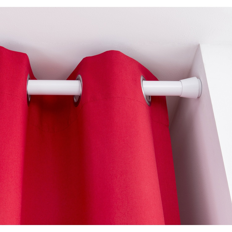 kit de tringle rideau extensible yuko diam 28 mm blanc. Black Bedroom Furniture Sets. Home Design Ideas