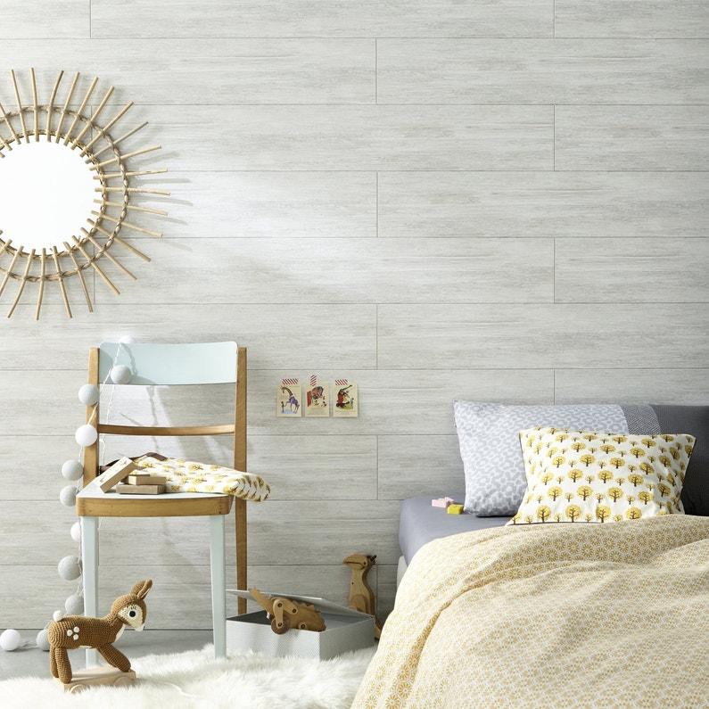 Une chambre d 39 enfant au style scandinave leroy merlin for Decoration murale style chalet