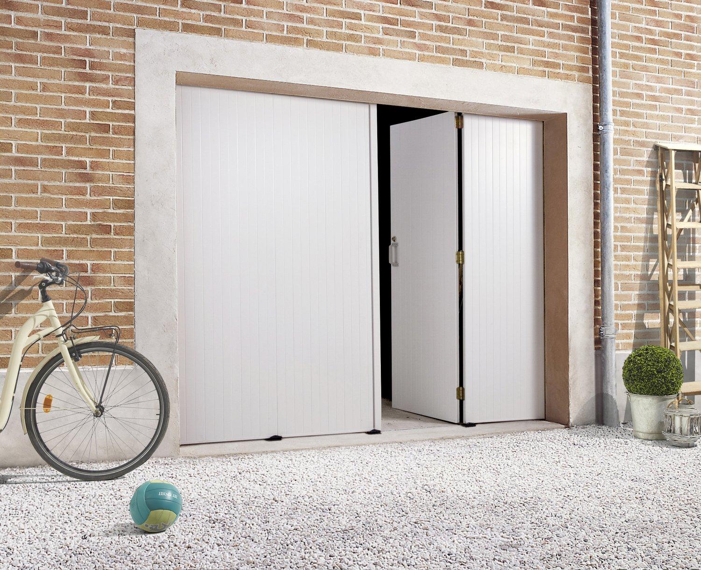 Une porte de garage avec la possibilit d 39 ouvrir une seule for Ma porte de garage remonte toute seule