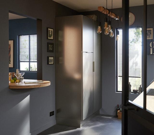 cuisine semi ouverte pour jouer avec l 39 espace leroy merlin. Black Bedroom Furniture Sets. Home Design Ideas