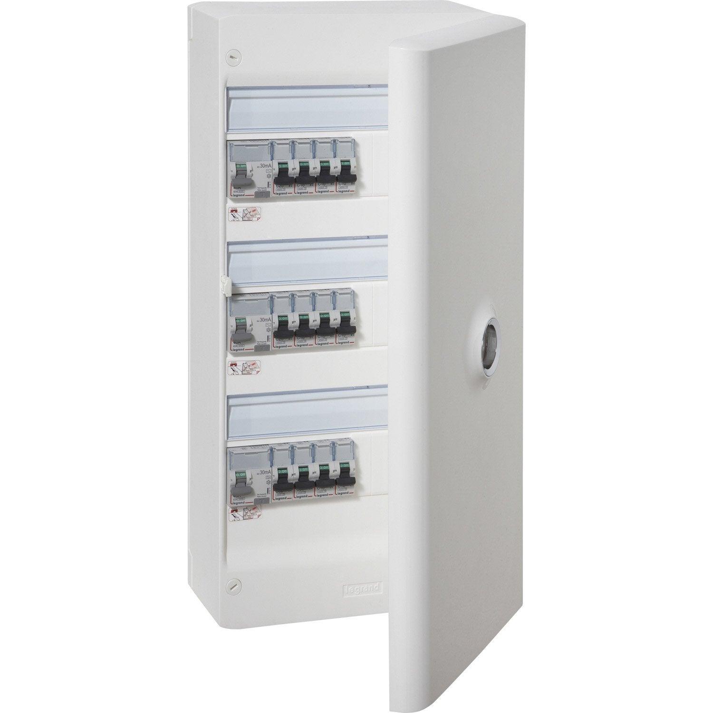 ... Tableau Electrique Exterieur Maisons Naturelles Tableau électrique  équipé Et Précâblé Legrand 3 Rangées 39 Modules ...