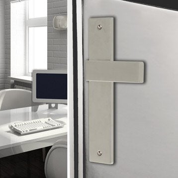 poign e sur plaque poign e de porte int rieure leroy. Black Bedroom Furniture Sets. Home Design Ideas