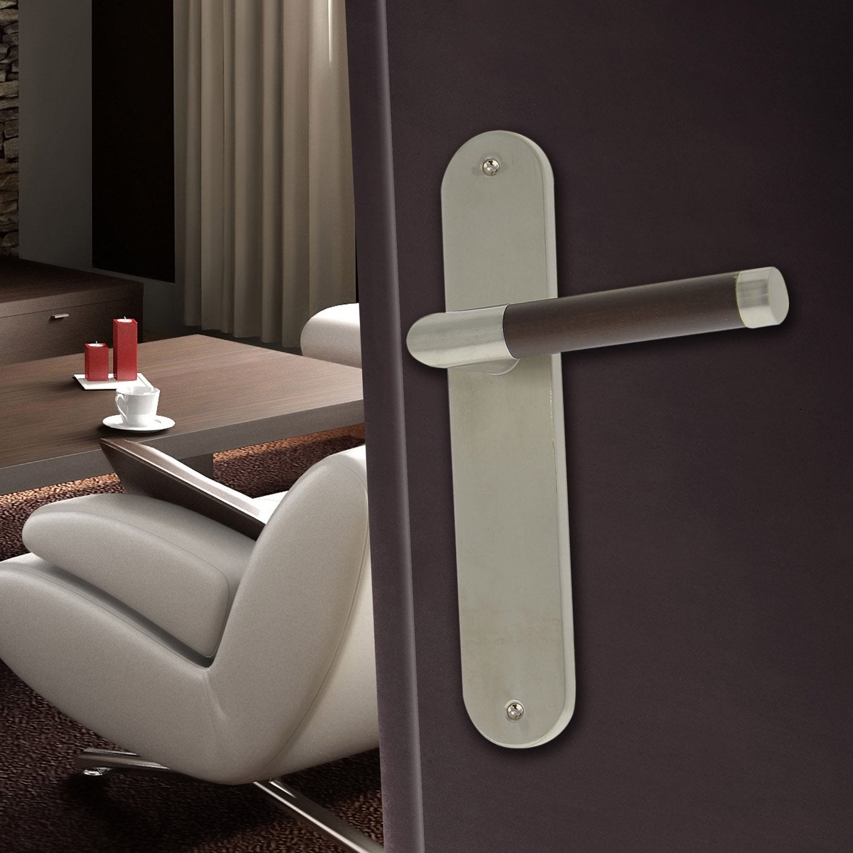 2 poign es de porte gait sans trou acier inoxydable 195 mm leroy merlin. Black Bedroom Furniture Sets. Home Design Ideas