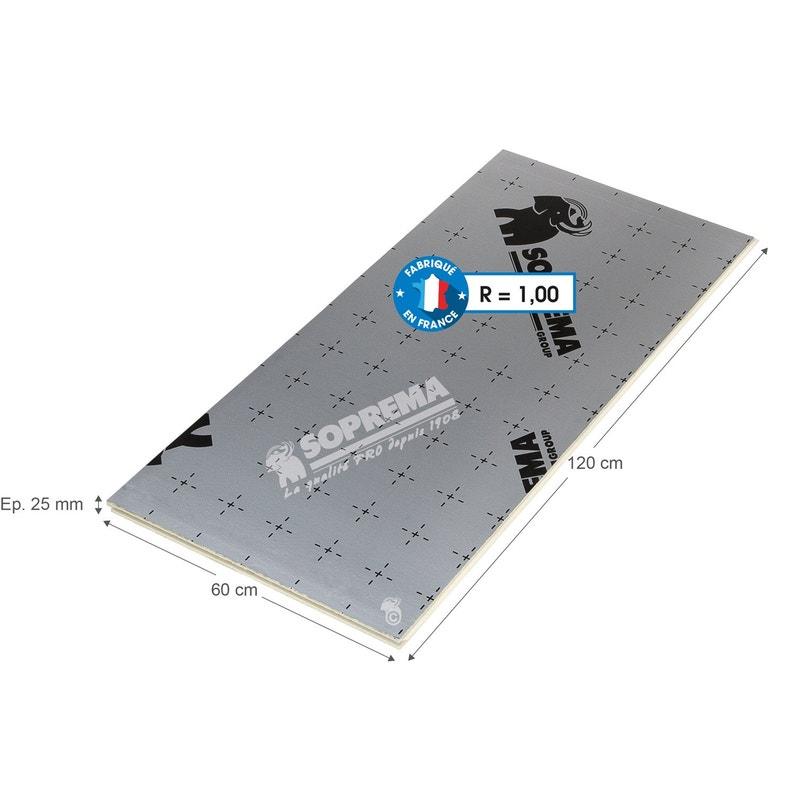 Panneau Pour Isolation Polyuréthane L06 X L12 X Ep25 Mm Rr1 à R3