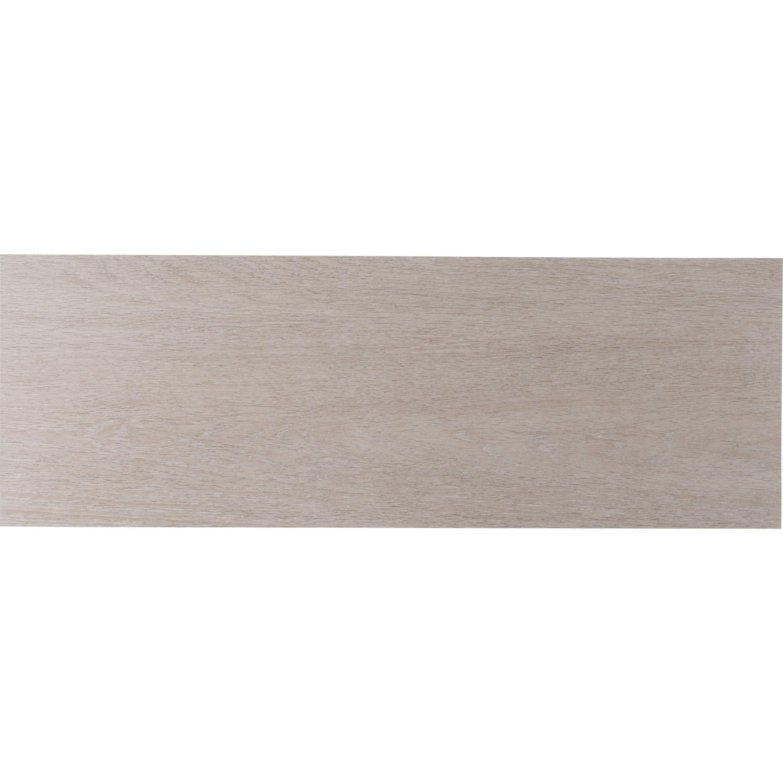 Faïence mur bois chêne naturel mat l.24 x L.69 cm, Lodge ZIONE - KERABEN GRUPO