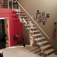 Porte coulissante porte int rieur escalier et rambarde construction - Leroy merlin escalier ...