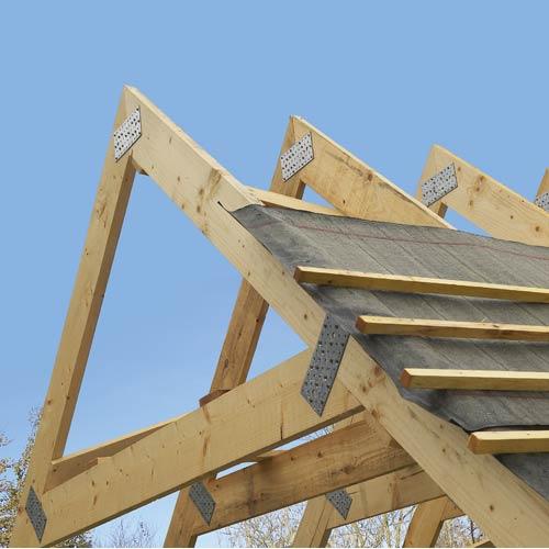 Charpente toiture et bardage leroy merlin for Ferme de charpente en bois