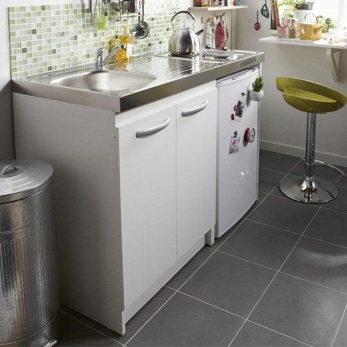 Meuble sous evier lave vaisselle affordable meuble tiroir - Kitchenette avec lave vaisselle ...