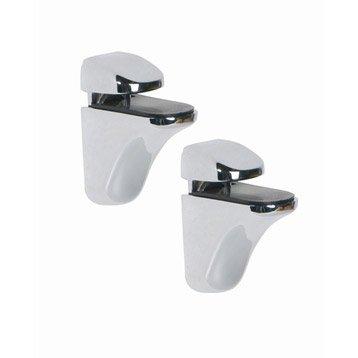 Accessoires de miroir miroir de salle de bains leroy for Tablette salle de bain leroy merlin
