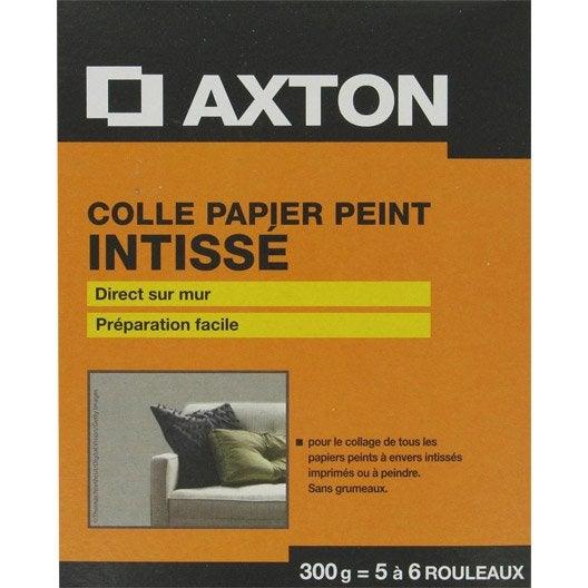 Colle papier peint intiss axton 0 3 kg leroy merlin - Produit pour decoller papier peint ...