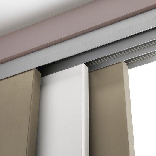 Rail coulissant et habillage slide pour 3 cloisons artens porte de largeur 9 - Habillage porte placard coulissant ...