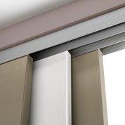 Rail coulissant et habillage Slide pour 3 cloisons ARTENS, porte de largeur 93cm