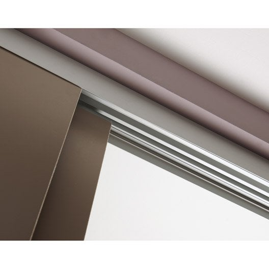 Rail coulissant et habillage slide pour 2 cloisons artens - Cloison vitree interieure leroy merlin ...