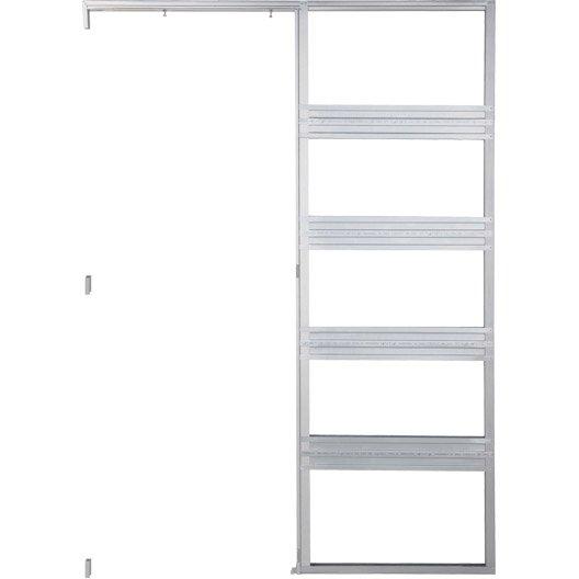 rail coulissant et habillage acier galvanis gala pour porte de largeur 83 cm leroy merlin. Black Bedroom Furniture Sets. Home Design Ideas