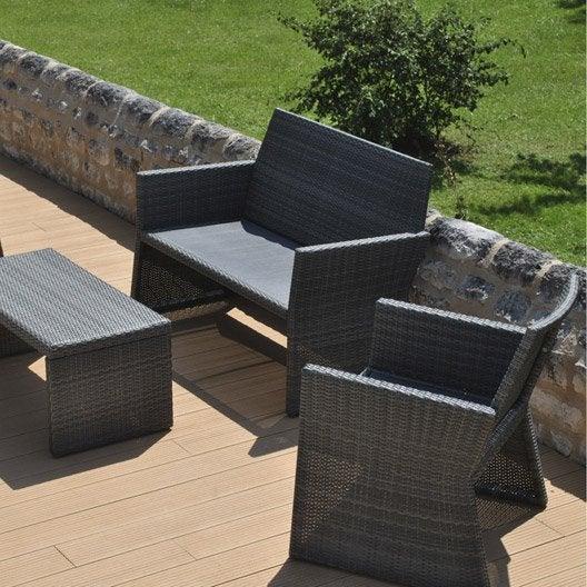 salon de jardin ice proloisirs leroy merlin. Black Bedroom Furniture Sets. Home Design Ideas
