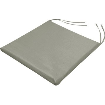 galette de chaise basica taupe 38 x 38 cm. Black Bedroom Furniture Sets. Home Design Ideas