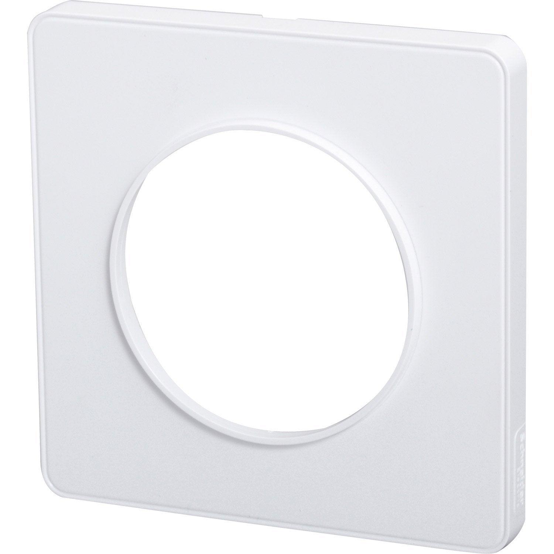Plaque Simple Odace Schneider Electric Blanc