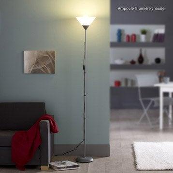 Lampadaire Basic, 177 cm, blanc, 60 W