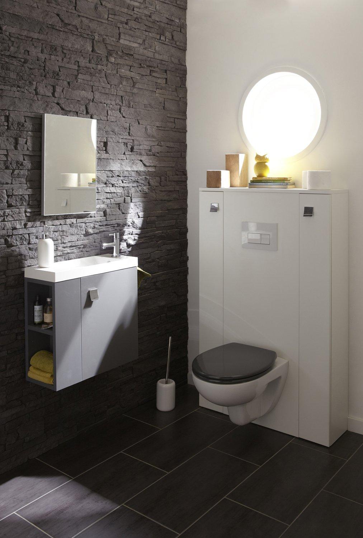 Toilette Gris Et Blanc des wc tout en gris et blanc | leroy merlin