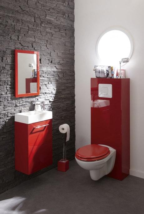Le rouge dynamise les toilettes