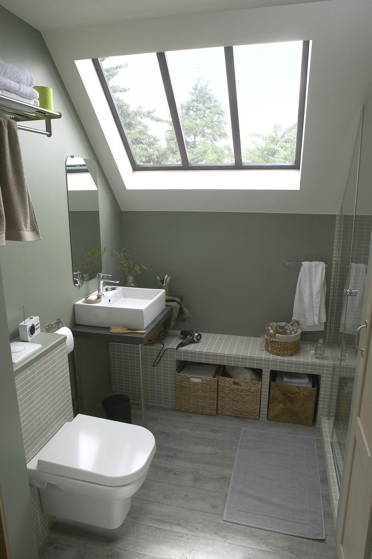 une salle dueau sous les combles with salle de bain en. Black Bedroom Furniture Sets. Home Design Ideas