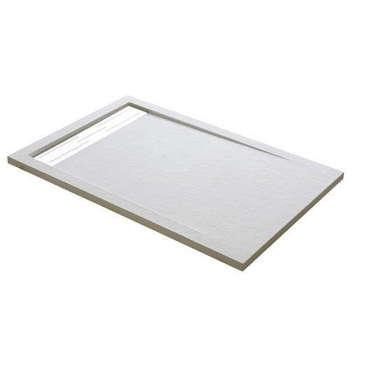 Receveur de douche extraplat rectangulaire x cm r sine blanc urban leroy merlin - Receveur de douche 80 120 ...