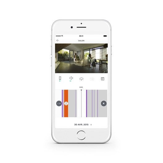alarme maison sans fil connect e myfox home alarm leroy merlin. Black Bedroom Furniture Sets. Home Design Ideas