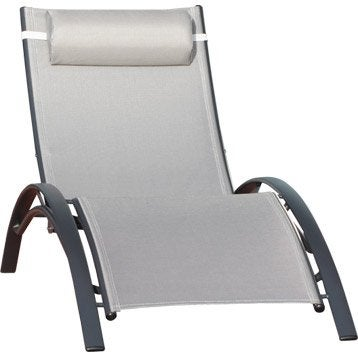Bain de soleil transat hamac chaise longue leroy merlin for Transat bain de soleil leclerc