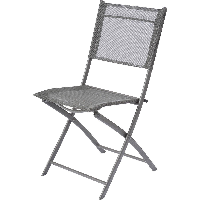 Chaise de jardin en acier Denver gris | Leroy Merlin