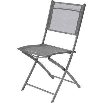 Chaise de jardin en acier Denver gris