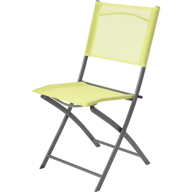 chaise de jardin en acier denver vert - Chaise De Jardin