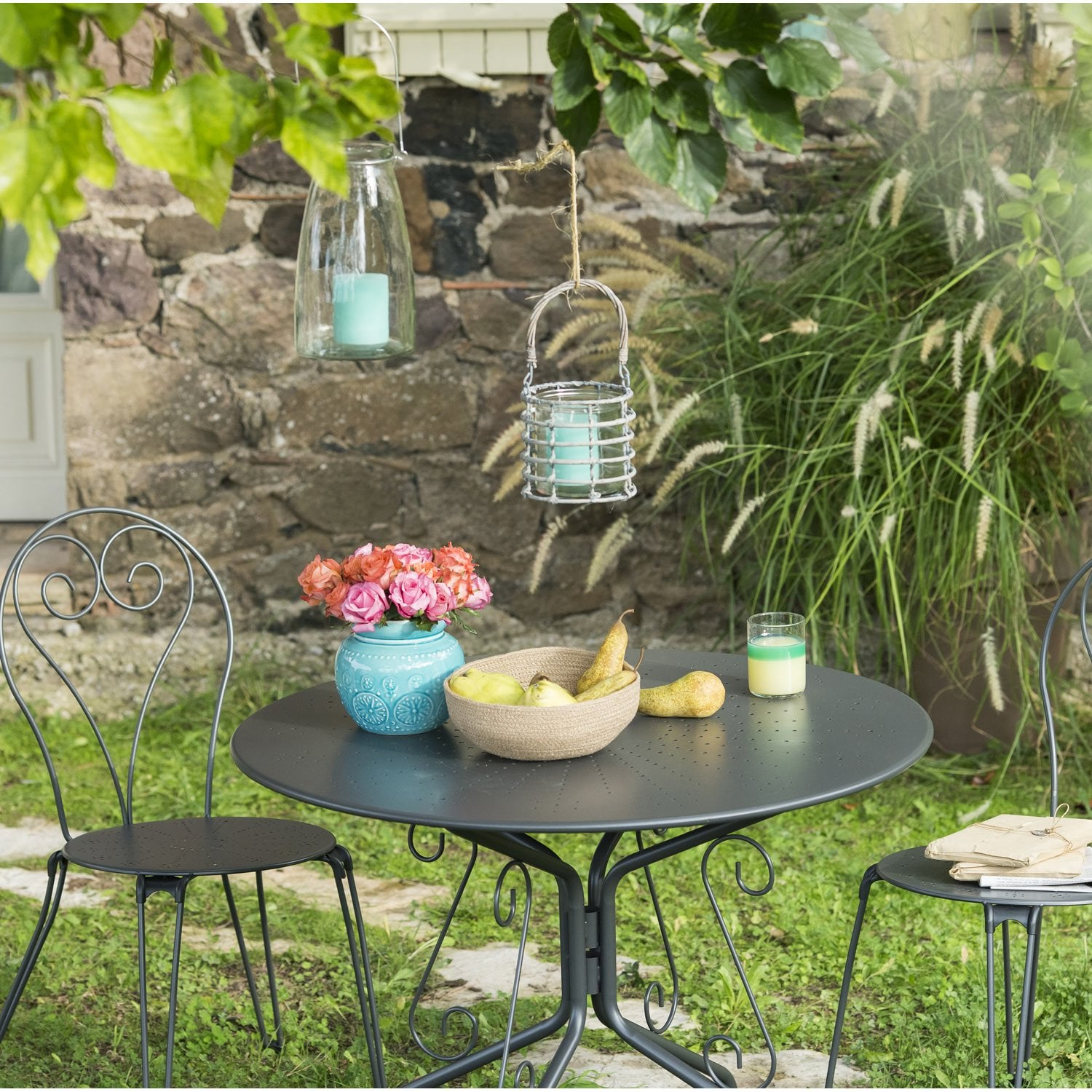 Beautiful Table De Jardin Romantique Metal Pictures - Amazing House ...